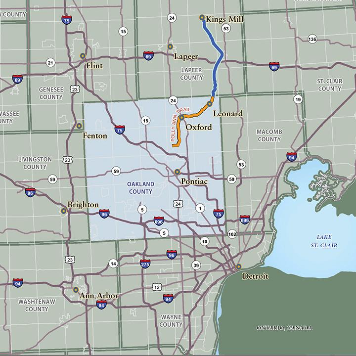 Southeast Michigan Counties Map